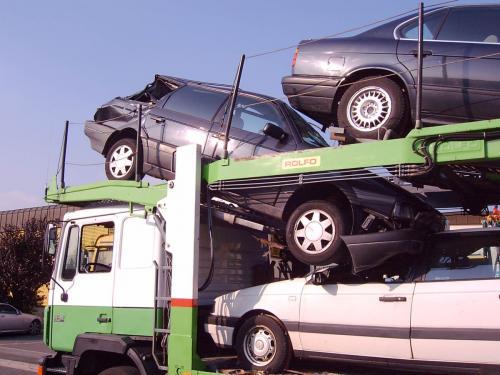 14.10.2006 VU Autotransporter Unterführung