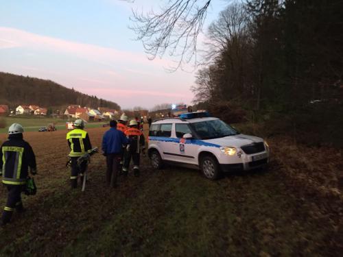 28.12.2015 THL Verletzte Person Wald
